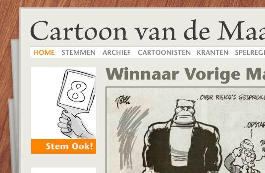 Cartoon van de Maand voor Krant in de Klas