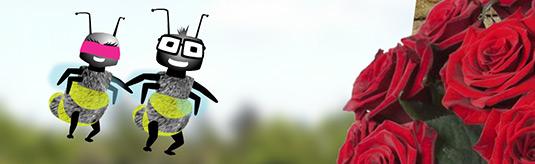 Screenshot van de Fleurop Valentijn e-Card Animatie