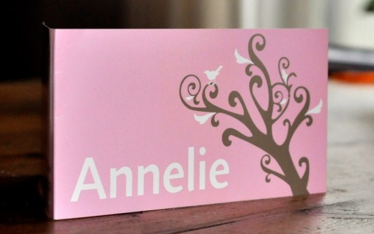 Voorkant Geboortekaartje Annelie