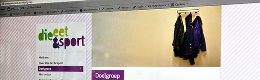 Screenshot van Die Eet en Sport