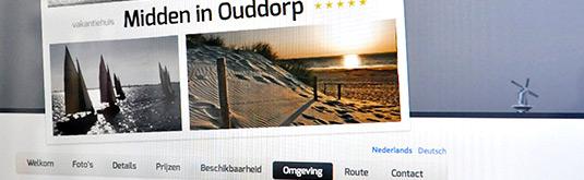 Screenshot van Vakantiehuis Midden in Ouddorp